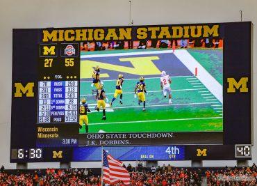 Ohio State 56 Michigan 27 scoreboard