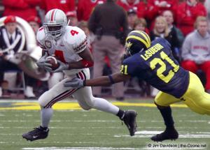 022 Santonio Holmes Ohio State Michigan 2003 The Game football