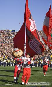 016 Brutus cheerleaders Ohio State Michigan 2005 The Game football