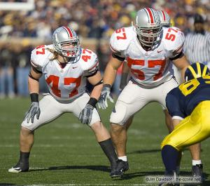 029 AJ Hawk Mike Kudla Ohio State Michigan 2005 The Game football