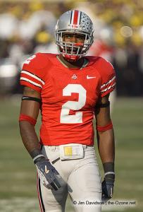 007 Malcolm Jenkins Ohio State Michigan 2007 The Game football