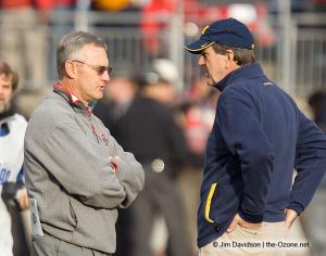 014 Jim Tressel Lloyd Carr Ohio State Michigan 2007 The Game football