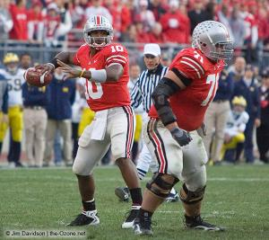 027 Troy Smith Steve Rehring Ohio State Michigan 2007 The Game football