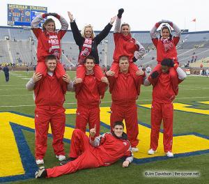 002 OSU Cheerleaders Ohio State Michigan 2007 The Game football