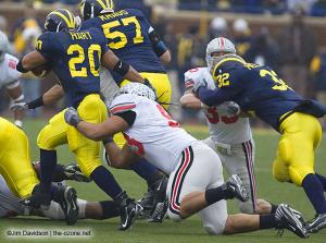 028 Nader Abdallah Ohio State Michigan 2007 The Game football