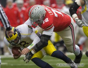 026 Dexter Larimore Ohio State Michigan 2008 The Game football