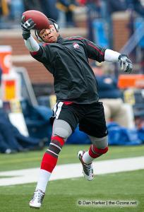 004 DeVier Posey pregame Ohio State Michigan 2009 football