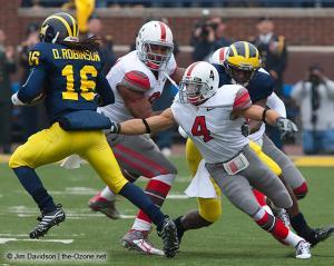 028 Doug Worthington Kurt Coleman Ohio State Michigan 2009 football