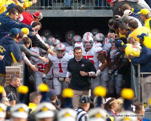 019 Luke Fickell Tunnel Ohio State Michigan 2011 The Game football