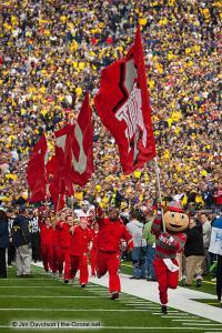 022 Brutus Cheerleaders Ohio State Michigan 2011 The Game football