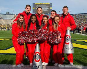 005 Cheerleaders Ohio State Michigan 2013