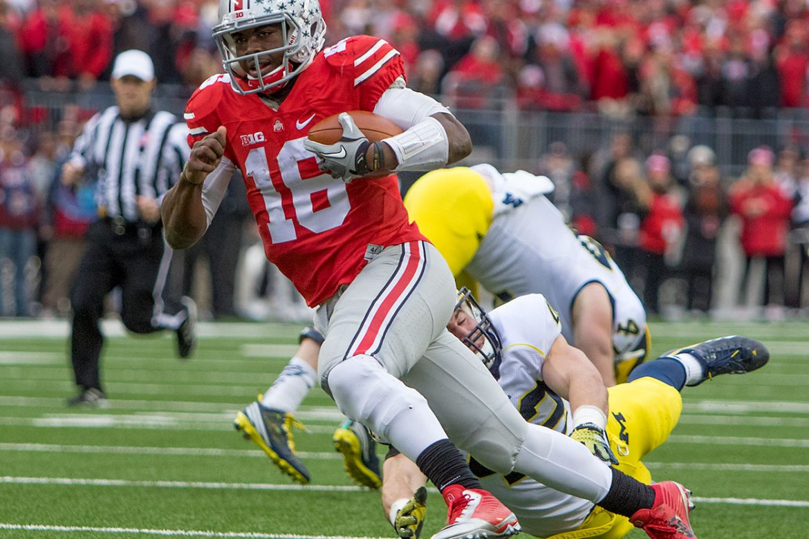 J.T. Barrett against Michigan.