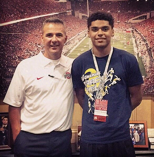 Trevon Grimes and Urban Meyer