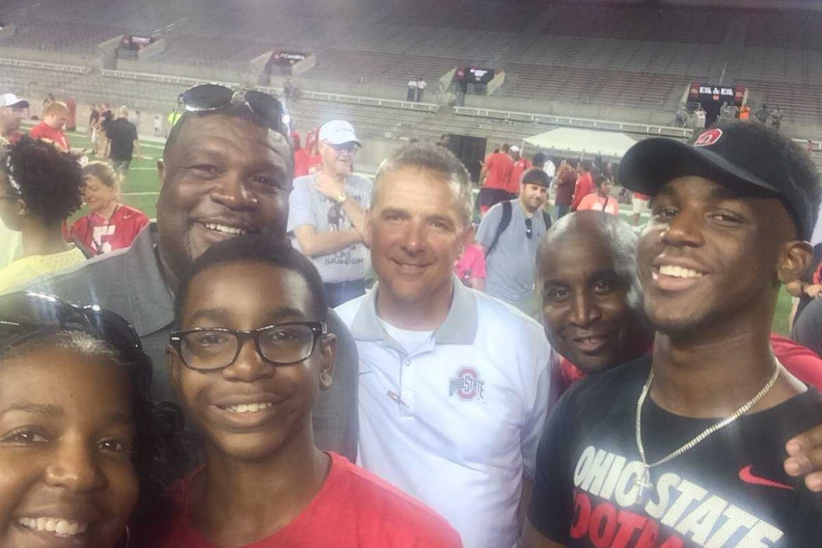 Dallas Gant and Family with Urban Meyer