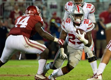 Ohio State Buckeyes running back Mike Weber vs Oklahoma Ohio State Football