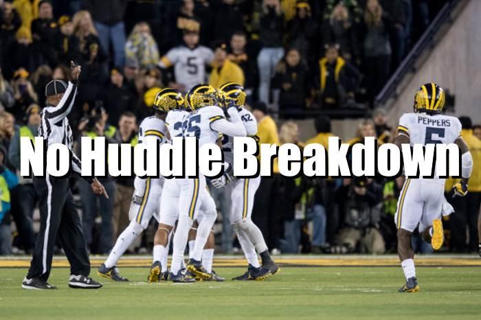 No Huddle Breakdown Michigan - Ohio State