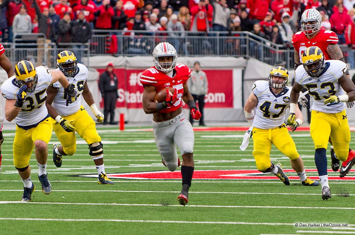 Ohio State Buckeyes Ezekiel Elliott vs. Michigan 2014