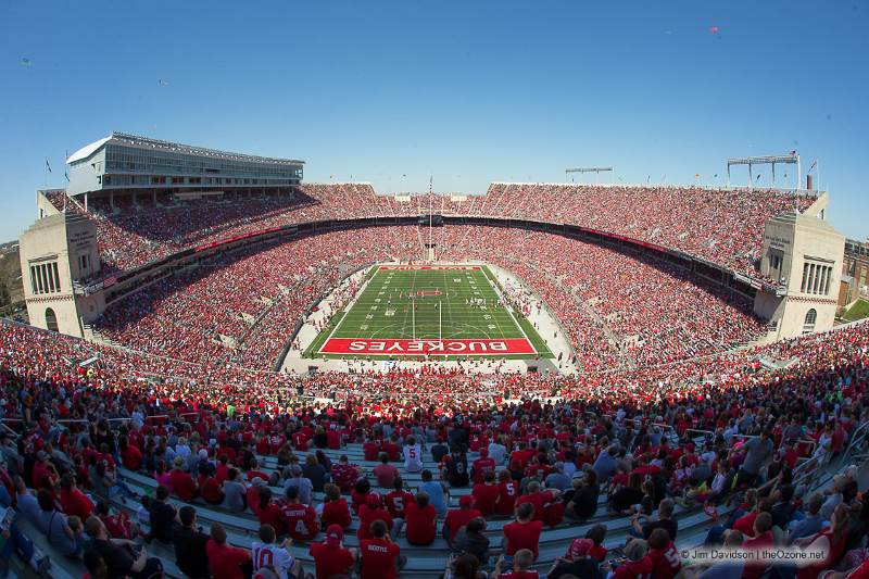 Ohio Stadium on a sunny day in November.