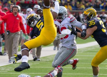 Jabrill Peppers Upended by Ezekiel Elliott