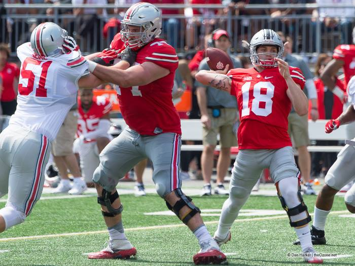 Tate Martell Throwing Ohio State Spring Game