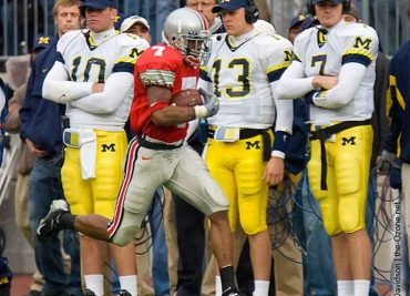 Ted Ginn returns a punt for a touchdown against Michigan in 2004