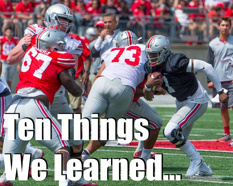 10 Things 2017 Spring Game