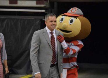 Chris Holtmann and Brutus Buckeye Basketball Ohio State Basketball