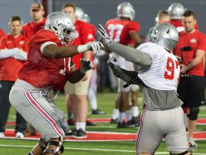 Ohio State offensive line Jamarco Jones and Nick Bosa Ohio State Football