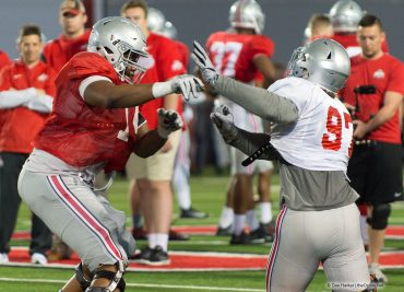Ohio State offensive line Jamarco Jones and Nick Bosa Ohio State Football
