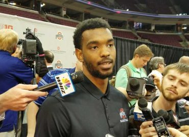 Keita Bates-Diop at Chris Holtmann Introduction