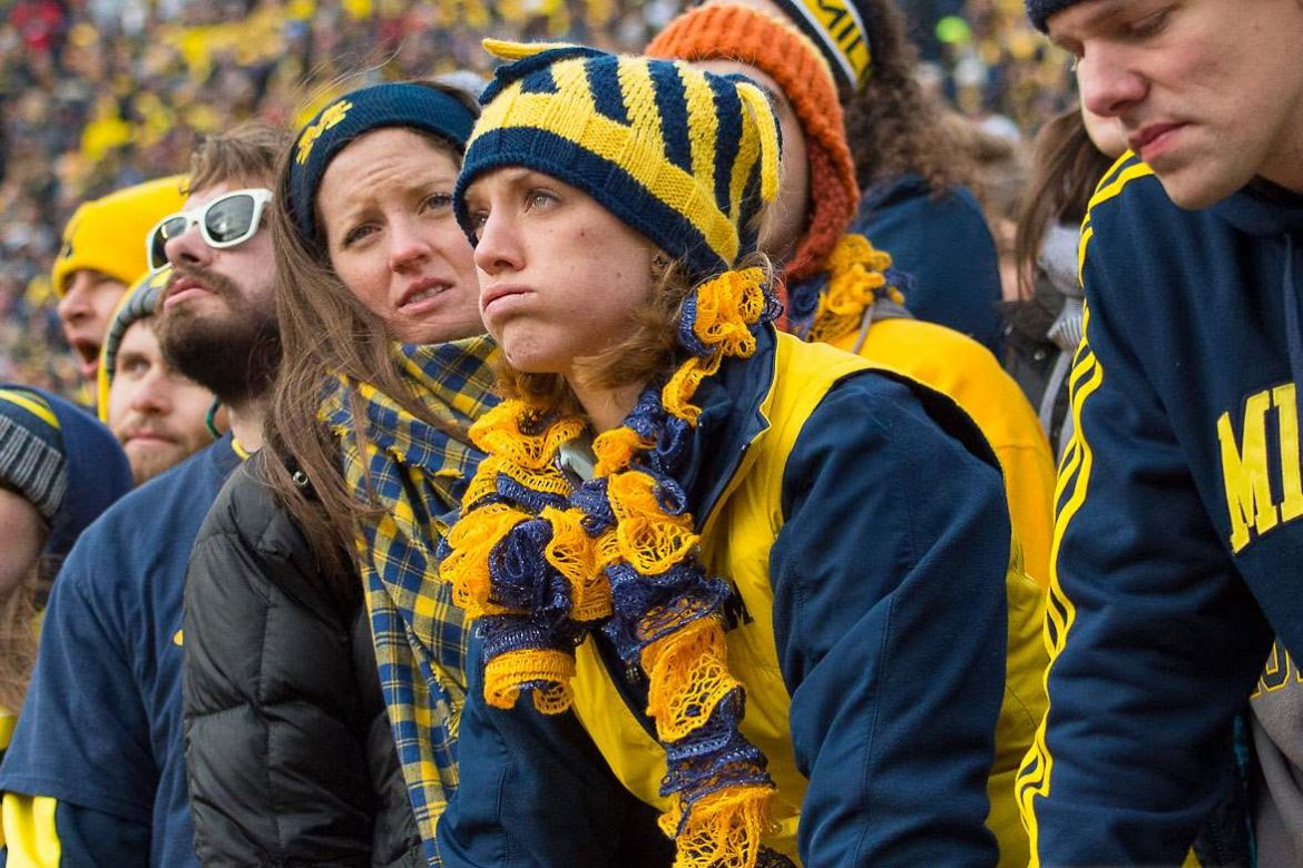 Michigan Fans following a loss to Ohio State Buckeyes Ohio State Football