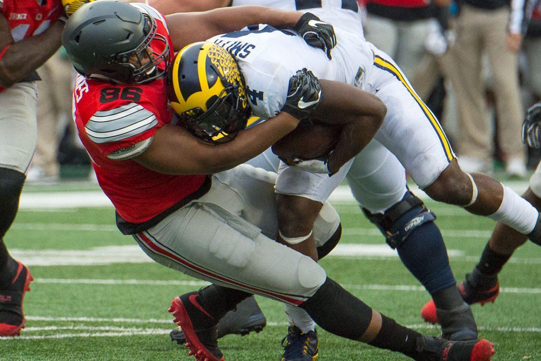 Buckeye Football Dre'Mont Jones vs Michigan Ohio State Football