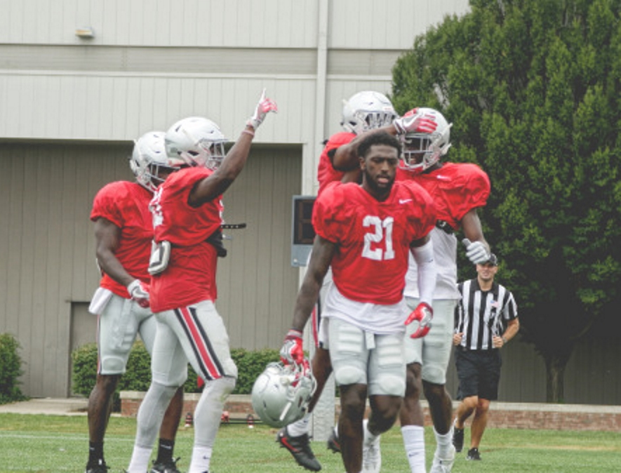 Ohio State Football Buckeyes Receivers Fall Camp