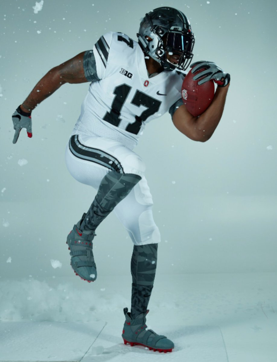 9f231962268d ... Ohio State will wear when they play Michigan on November 25. It is  essentially the road version of the alternate uniforms they wore against  Penn State.