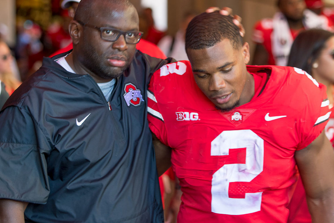 Tony Alford, J.K. Dobbins Ohio State Football Buckeyes
