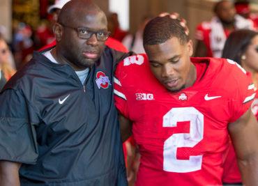 Tony Alford, J.K. Dobbins Ohio State Football Buckeyes