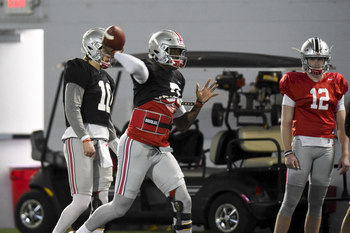 Ohio State Football Buckeyes Dwayne Haskins Joe Burrow