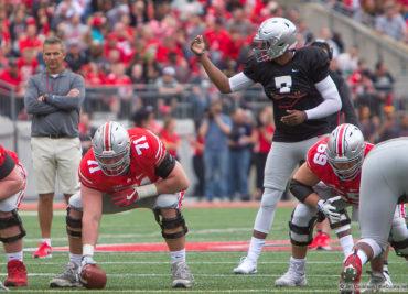 Dwayne Haskins Josh Myers 2018 Spring Game Ohio State Football Buckeyes