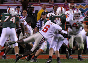 Cie Grant Ken Dorsey 2003 Fiesta Bowl Ohio State Miami