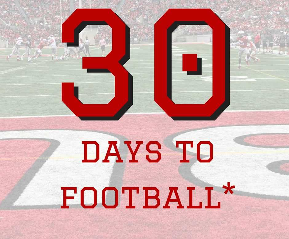 30 Days To Ohio State Football Buckeyes