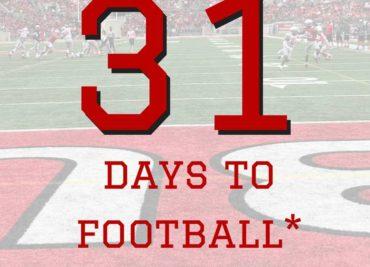 31 Days To Ohio State Football Buckeyes