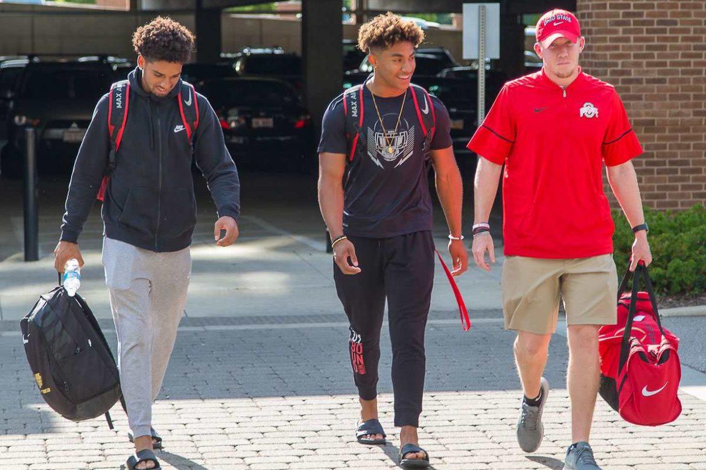Chris Olave, Kamryn Babb, Keenan Bailey Ohio State Football Buckeyes