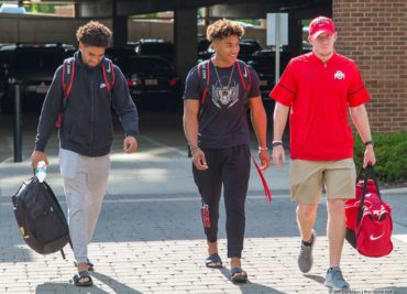 Chris Olave, Kamryn Babb, Keenan Bailey Ohio State Football Buckeyes