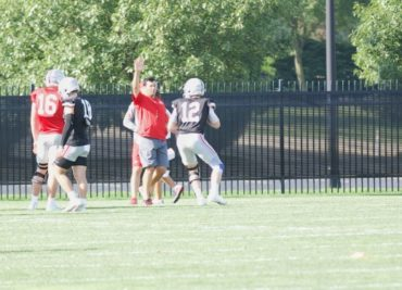 Ohio State football Ryan Day Matthew Baldwin practice