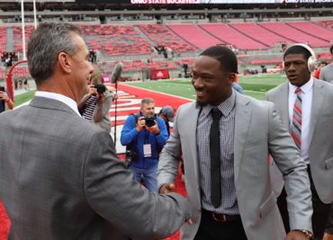 Urban Meyer Johnnie Dixon Ohio State football pregame