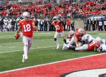 Ohio State football quarterback Tate Martell touchdown Tulane