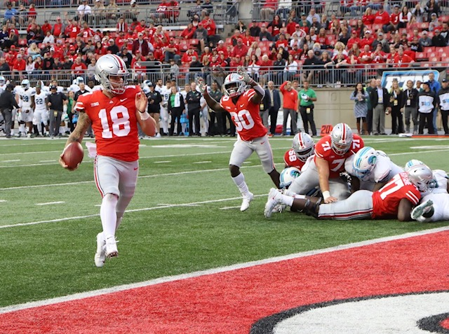 Ohio State football quarterback Tate Martell touchdown Tulane