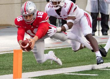 Ohio State football quarterback Tate Martell touchdown run
