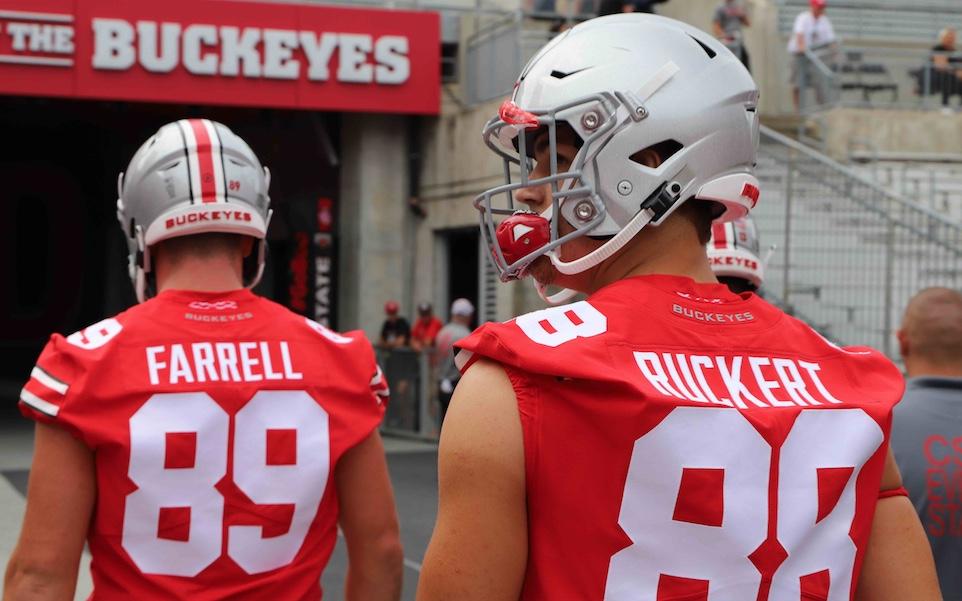 Luke Farrell Jeremy Ruckert Ohio State Football Buckeyes