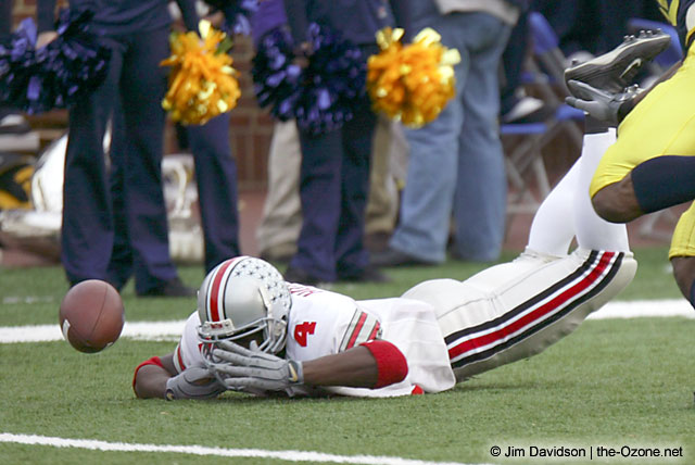 Santonio Holmes Ohio State Michigan 2003 The Game football